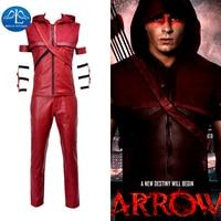 MANLUYUNXIAO Nuovo Arrivo Movie Character Freccia Rossa Costume Speedy Arsenal Roy Harper Costume Cosplay Per Gli Uomini Custom Made