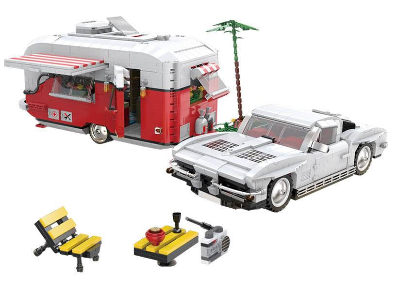 New Genuine Family Recreational Vehicle camp Building Blocks Compatible with Lepin Car Toys Bricks Best Gift For Children
