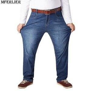 Image 4 - סתיו בתוספת גודל גדול ג ינס מכנסיים גברים 6XL 7XL 8XL 9XL 10XL מזדמן גדול ארוך מכנסיים 44 46 48 50 52 גמישות סתיו קלאסי חדש
