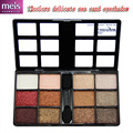 quality eyeshadow shimmer 12 colors eyeshadow palette makeup box elegant eye shadow with eye pencil Free shipping ms414