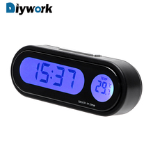 hot deal buy digital clock  thermometer automobiles decor 2 in 1 interior accessories car-styling ornaments mini car decoration