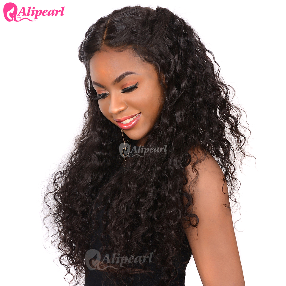Water Wave 360 Lace Frontal Human Hair Wigs With Baby Hair Pre Plucked For Black Women Brazilian Lace Wigs Remy Ali Pearl Hair Wig by Ali Pearl