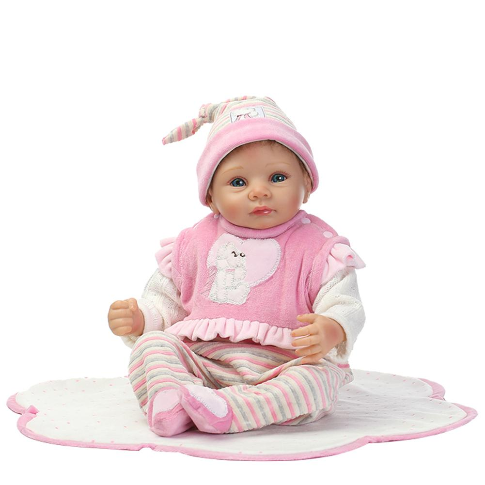 New 46cm Vinyl Silicone Lifelike Reborn Baby Doll with Blanket Kids Pretend Play Toy New 46cm Vinyl Silicone Lifelike Reborn Baby Doll with Blanket Kids Pretend Play Toy