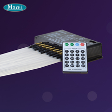 PMMA shooting fiber optic star ceiling kit lighting , white CREE light source 300 strands 0.75mm 2m long 24key remote