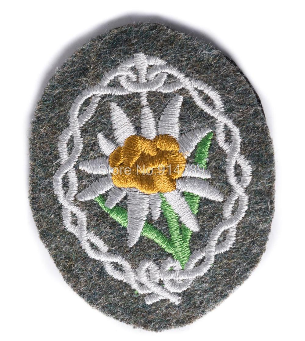 WWII GERMAN WH WEHRMACHT MOUNTAIN TROOPS EDELWEISS SLEEVE PATCH-35758