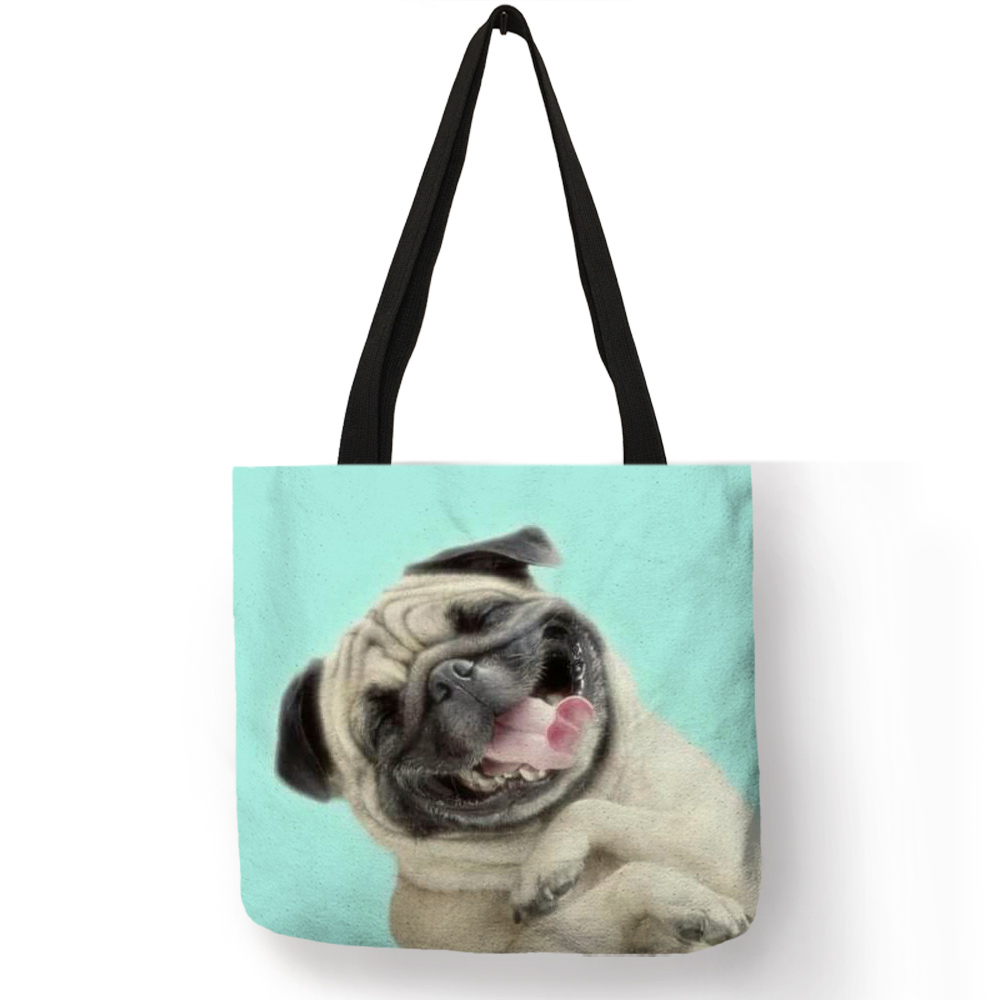 personalized-simple-pug-dog-3d-printed-pink-purple-handbag-for-women-girls-soft-college-tote-bag-high-quality-linen-shoulder-bag