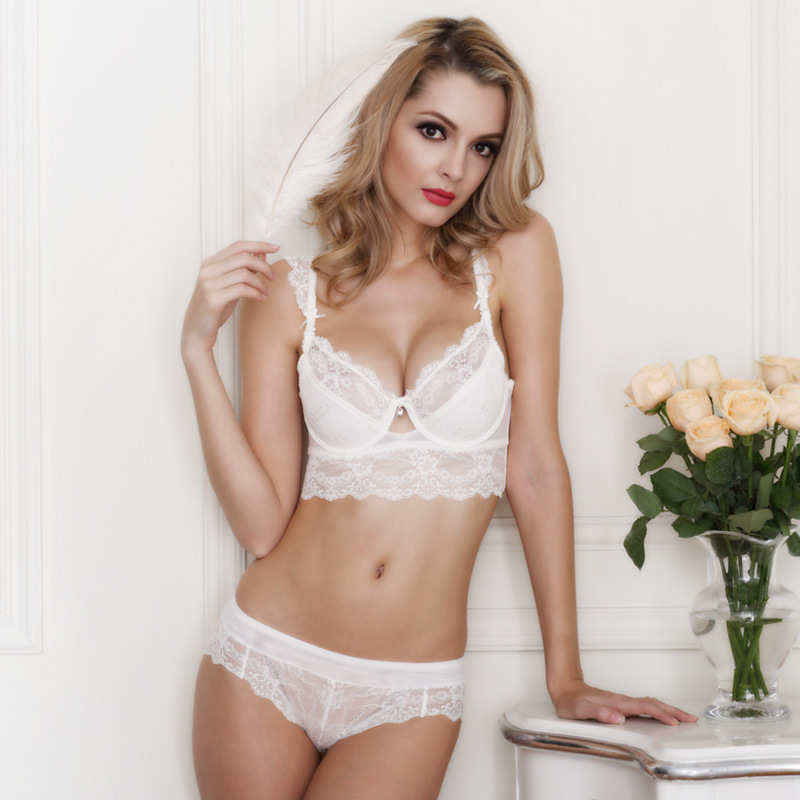 c48989bd3f3 Plus Size Bra and Panty Sets Transparent Bras Summer Ultra thin Dentelle  Push Up Ensemble Seamless Sexy Lace Girls Small Bra ABC-in Bra   Brief Sets  from ...