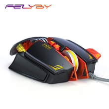 FELYBY Professional Mechanical Wired Gaming Mouse for PC and Laptop 3200DPI 8 Button Competing