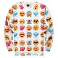 Новая Мода Женщины/Мужчины Пуловеры Смешные интересные emoji 3d кофты блузка Толстовки топ Размер S-XL