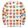 New Fashion Women/Men Pullovers Engraçado interessante emoji moletons 3d Hoodies blusa top Tamanho S-XL