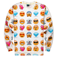 New Fashion  Women/Men Pullovers Funny interesting emoji 3d sweatshirts blouse Hoodies top Size S-XL