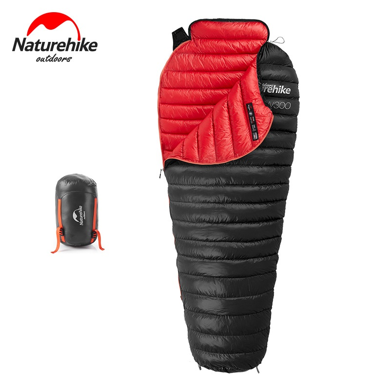 Naturehike Winter Warm Goose Down Sleeping Bag 750 Filling Power Outdoor Camping Hiking Adult Sleeping Bags Ultralight 630g aegismax outdoor hiking camping sleeping bag adult ultralight naturehike goose down winter cold weather mummy sleeping bags