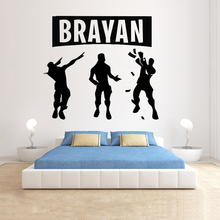 Gamer Personalised wall decal Eat Sleep Game Controller video game decals Customized For Kids Bedroom Vinyl Wall Art A1-023
