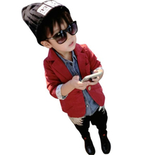 Gentleman Boys Toddlers Cotton Jacket Suit Solid Blazer Kids Jackets Coat Fall Overcoat