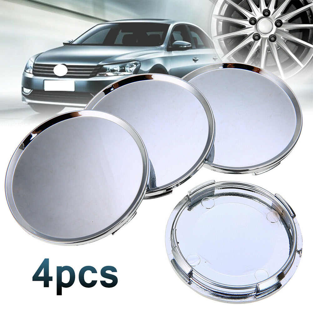 4Pcs Hub Cover Dust Wheel Center Cap 60mm Universal Protective Corrosion Car Vehicle Simple Accessories Auto Parts Replacement