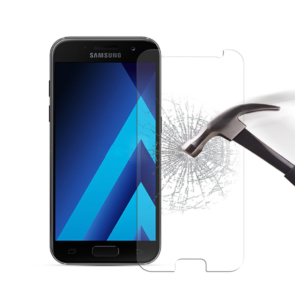 Tempered <font><b>Glass</b></font> for <font><b>Samsung</b></font> Galaxy A5 2017 A520F Phone Screen Protector Protective Film For <font><b>Samsung</b></font> <font><b>A520</b></font> <font><b>Glass</b></font> Film +Clean Kits image