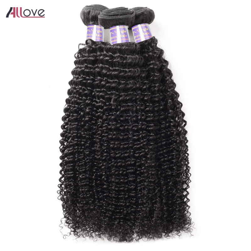 Allove Indian Remy Hair Weaving Kinky Curly Weave Hair Extensions 3 Bundles 100% Human Hair Weave 8- 28Inch Hair Bundles Deal
