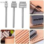 2/4/6 Prong Leather Tool Craft Punching Tool Row Circular Cutter Stitching Piercers for Leather Punches Hole Tool Accessories