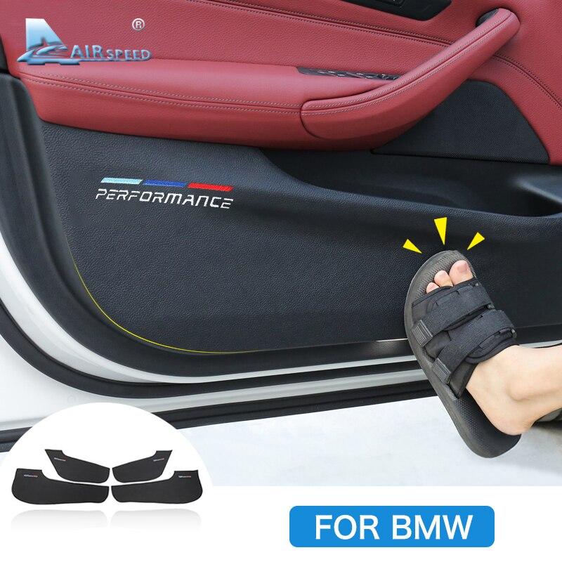 Interior do carro Porta Anti-sujo Almofada Anti-Kick Pad Proteção Porta Capa para BMW F30 F34 F10 F48 f25 F26 F15 F16 F01 G30 G32 G01