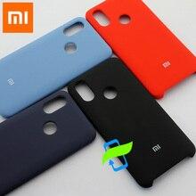 Xiaomi Mi8 Mi 8 kılıf sıvı silikon koruyucu kılıf için XIAOMI Mi 10 Lite not 7 Pro MIX3 PocoPhone F1 sıvı silikon arka kapak