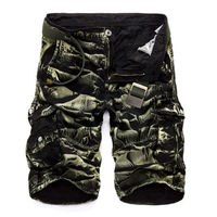 Men Military Cargo Shorts 2016 Brand New Army Camouflage Shorts Men Cotton Loose Work Casual Short