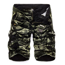 Mens Military Cargo Shorts 2018 New Brand New Army Camouflage Shorts Men Cotton Loose Work Casual Short Pants No Belt