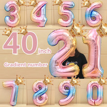 32inch Number Foil Balloons with crown Digit Air Ballon Kids Birthday Party Wild One Decorations Figure 30 Ans Decoracao coroa