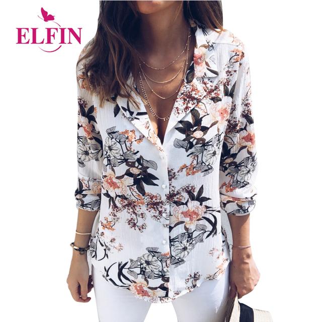 Floral print women's blouses