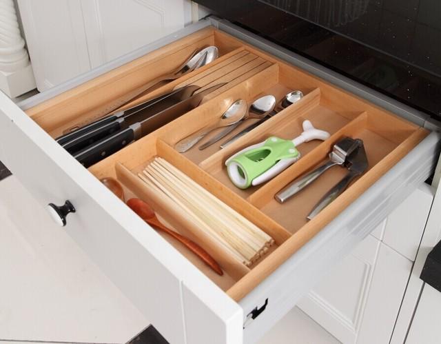 Kitchen Wood Drawer Organizer, Cutlery Tray, Drawer Inserts, Drawer  Storage, Chopsticks Spoon