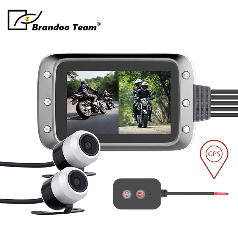 Étanche g-sensor dvr HD moto caméra dash cam moteur caméscope avec suivi GPS, livraison gratuite