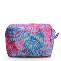 Wholesale And Retail Southern Style Women Cosmetic Bag Zipper Closure Makeup Bags Blanks For Embroidery Quality