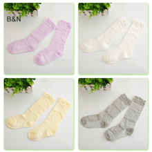 B&N Sweet Newborn Baby Girl Socks Cotton Summer Infant Knee High for 0-4 Years 1 Pair Breathable