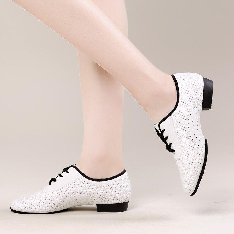 USHINE BD-A1 nouveau blanc talon 2.5 cm Fitness formation Jazz Zapatos De Baile Latino Mujer Ballet Latin salle De bal chaussures De danse femmes