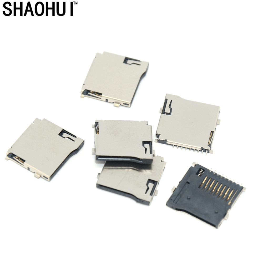 New products 20pcs TF card slot plug-in Micro sd card socket and ROHS free shipping