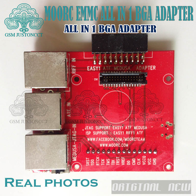 Newest update MOORC JTAG ISP Adapter ALL IN 1 For RIFF EASY JTAG PRO JTAG MEDUSA EMMC E-MATE BOX ATF BOX
