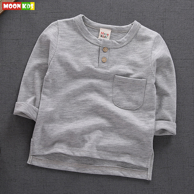 M&F Brand Autumn Children T-shirt Toddlers Cotton Basic Shirts Tees Infant Boys and Girls Long Sleeve Tops T-shirt Clothing