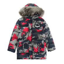 New Winter Down Jacket For Boy Girl 2018 Clothes Fur Collar  Kids Coats Girls Camo Thick
