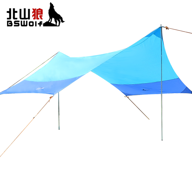 BSWolf Outdoor Tent Sun Shelter Oxford Cloth Beach Sun Shade Awning 4.2*3.5m Barbecue Camping Canopy Rainproof Parking Shed outdoor camping hiking automatic camping tent 4person double layer family tent sun shelter gazebo beach tent awning tourist tent