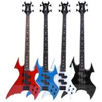 Minsine Design Electric Bass Guitar 4 Strings Active Pickups Metal Bass Guitar Musicman Metal Performance Bass Guitar