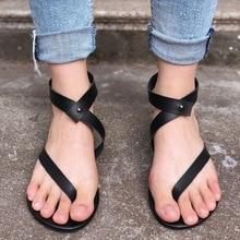 2018 New Women Sandals Summer Fashion Shoe Flip Flops Casual Beach Sandal Ladies Shoes Rome Sandalias Mujer Big Size Black Flats