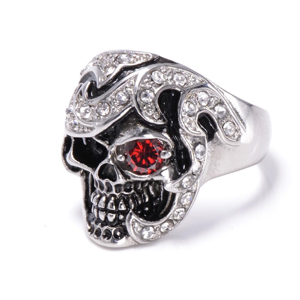 HTB13bOAKXXXXXauXpXXq6xXFXXXj - Skull Shaped Pirate Inspired Ring with Crystals