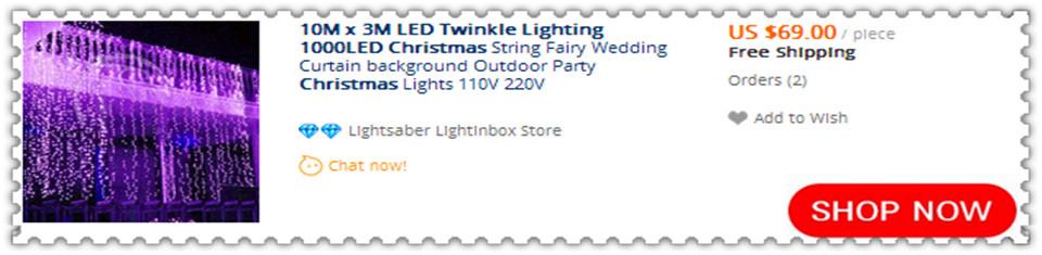 10X3m led string