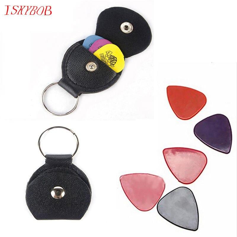 1 PCS 1pcs Guitar Picks Alice Matte Acoustic Electric Picks Leather Key Chain Guitar Picks Holder bag Case alice plastic guitar picks 12 pack
