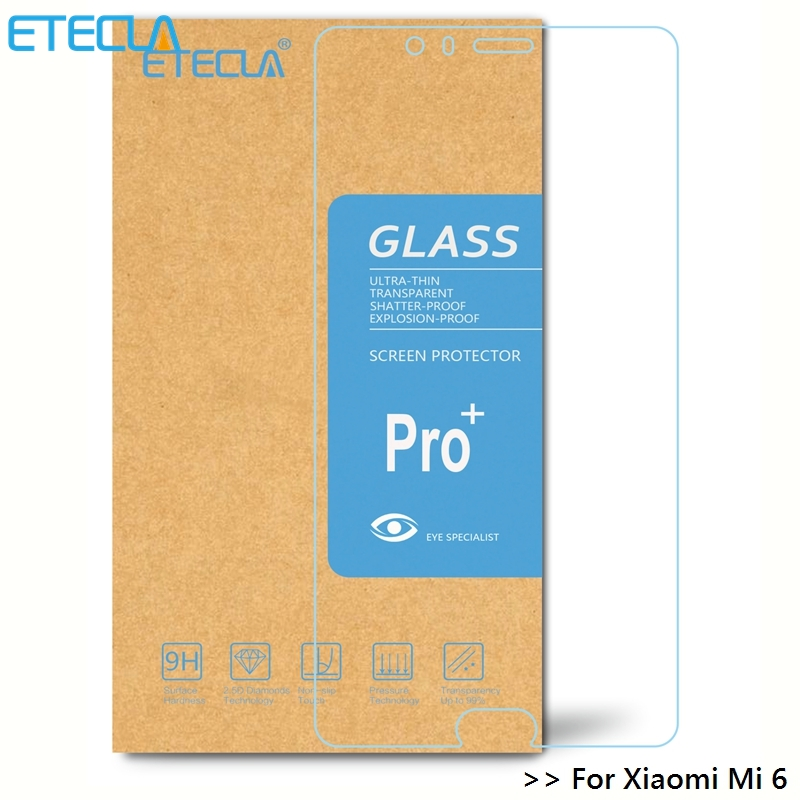 For Xiaomi Mi6 Tempered Glass On Xiaomi Mi6 Glass Xiomi Mi 6 M6 HD 0.26mm Clear Screen Protector Glass Film