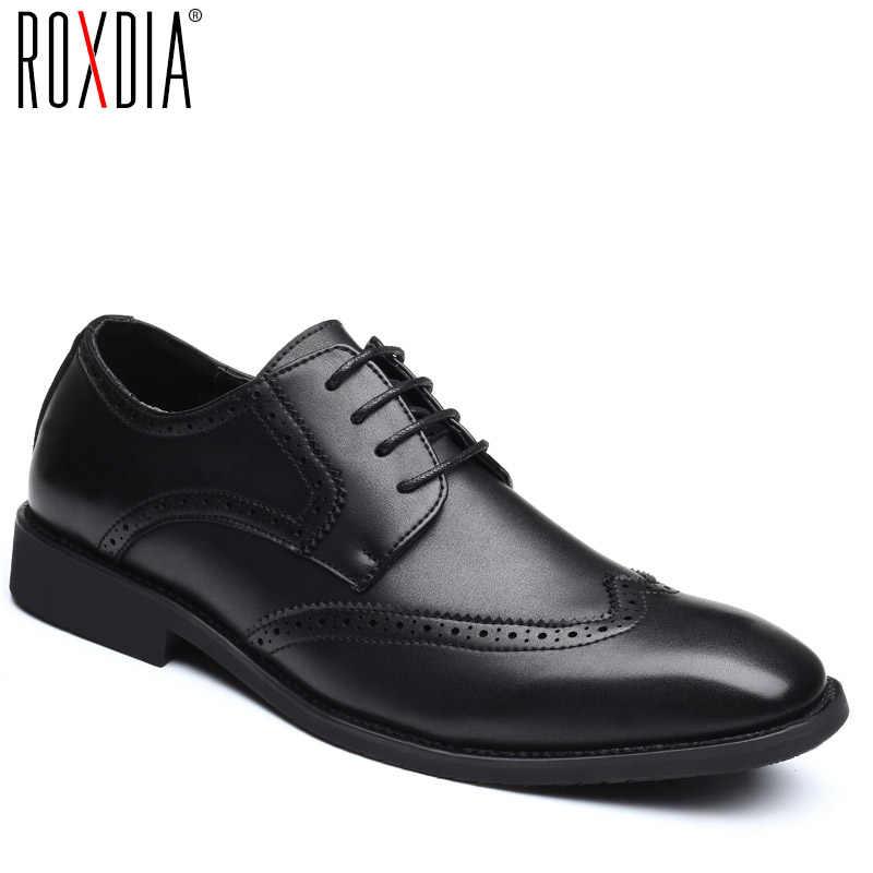 ROXDIA Plus size 39-48 nam Giày cưới phân da cho người Đầm giày nam oxford đế chính thức kinh Doanh Giày RXM093