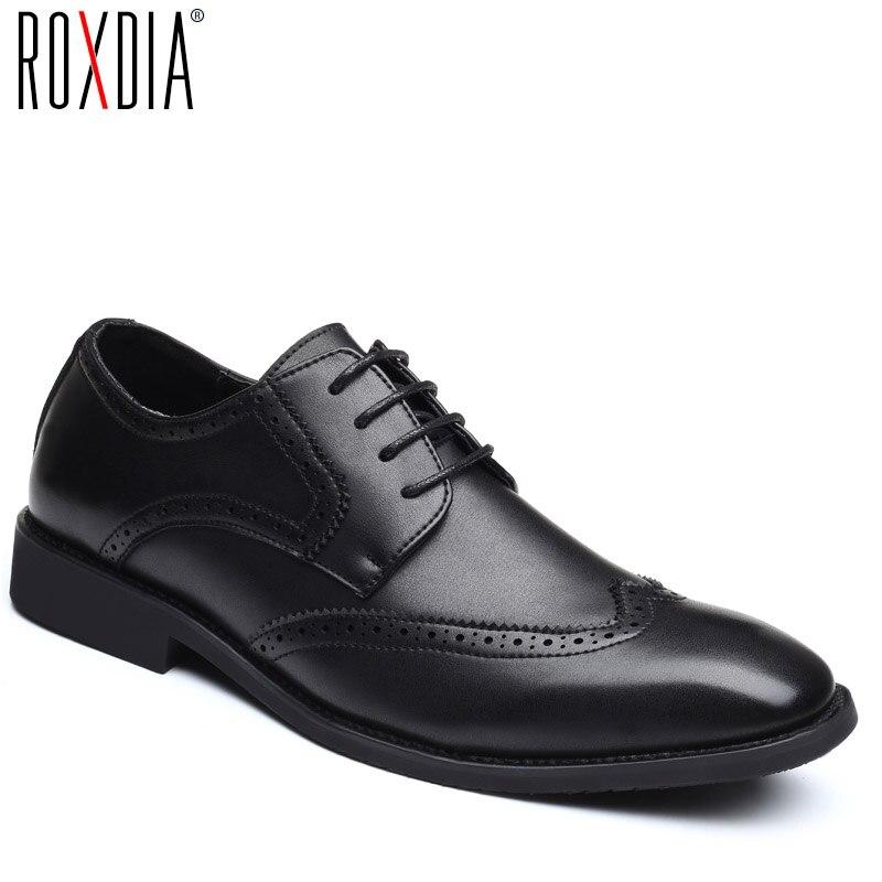 ROXDIA grande taille 39-48 hommes chaussures de mariage de microfibre en cuir pour homme chaussures habillées hommes oxford appartements formelle chaussures d'affaires RXM093