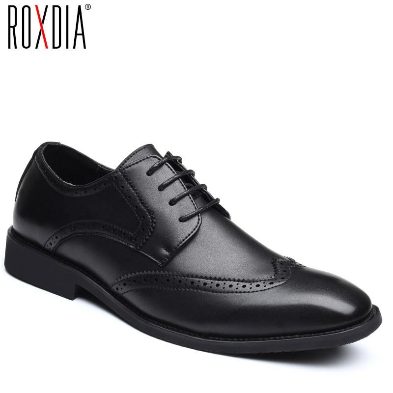 dc1bb4d277b Beste Koop ROXDIA plus size 39 48 mannen trouwschoenen microfiber leer voor man  kleding schoenen mannen oxford flats formele zakelijke schoen RXM093 ...