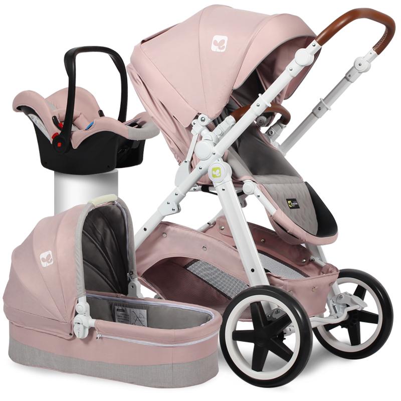 brand  baby 3 in 1 stroller high view baby car European two-way shock absorber  portable pram