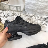 2019 новые модные женские кроссовки на толстом каблуке со шнуровкой, женская повседневная обувь, большие размеры, натуральная кожа, высокое к