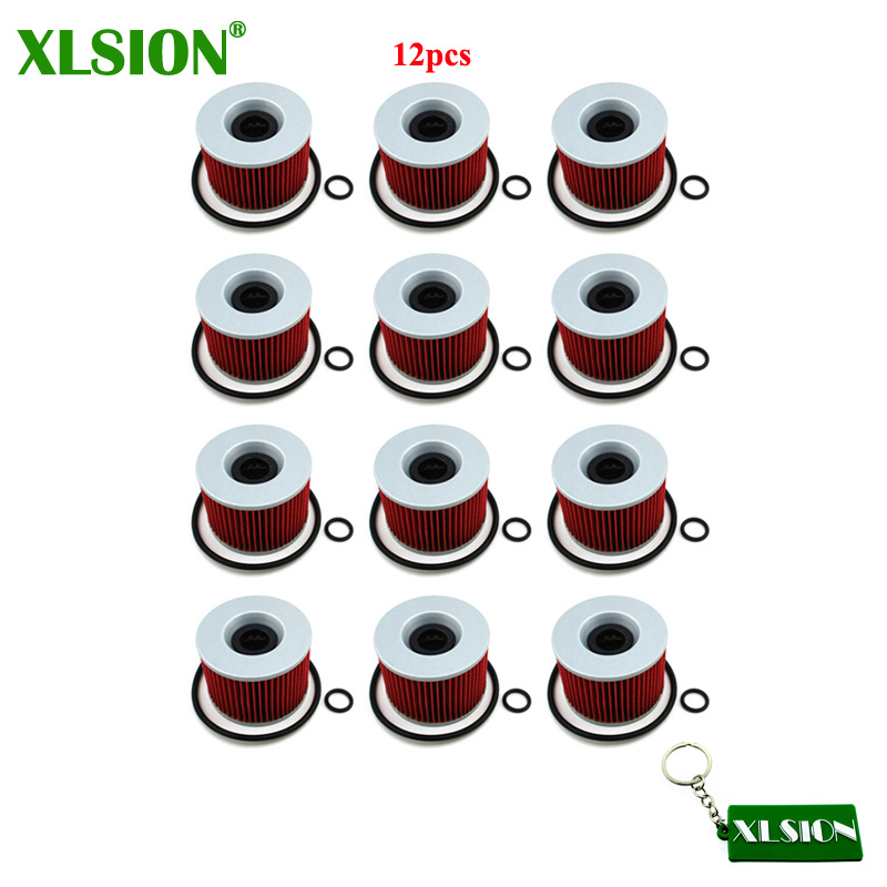 XLSION 12x Oil Filter For Yamaha FJ1200 FZR1000 FZX750 FZR750R FZX700 Kawasaki GPZ900R GT750 GPZ750R GPX750R